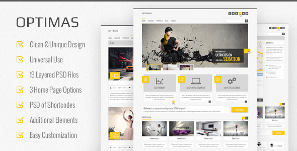 ThemeForest Optimas PSD Templat 3958971