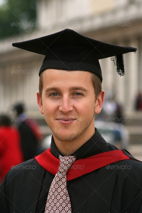 graduating student portrait - Stock Photo - Images