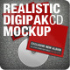 Realistic Digipak CD Mockup - GraphicRiver Item for Sale