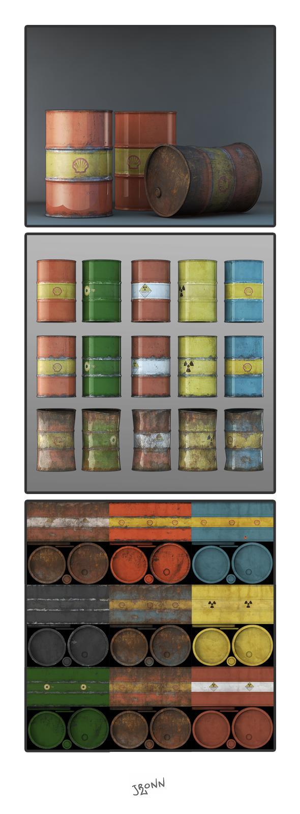 Barrels 01 - 3DOcean Item for Sale
