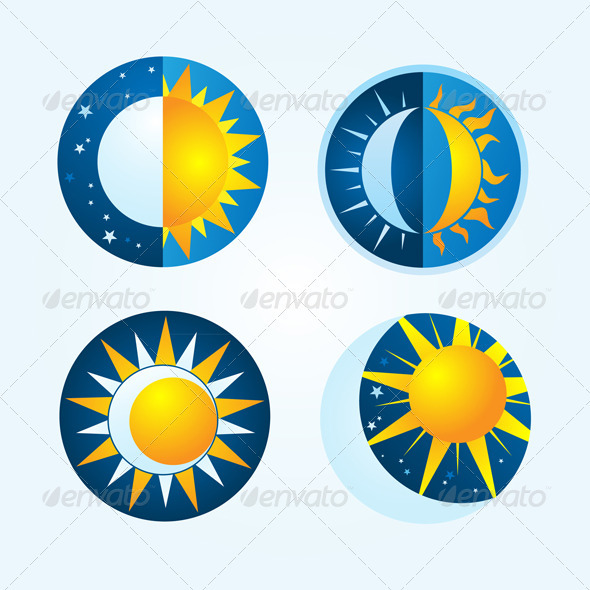 GraphicRiver Moon and Sun 3978752