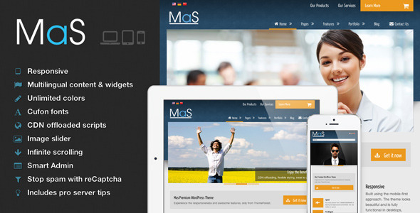 ThemeForest MaS Multilingual Responsive Multi-Purpose Theme 3978788