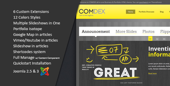 ThemeForest ComDex Clean and Modern Joomla Template 3971511