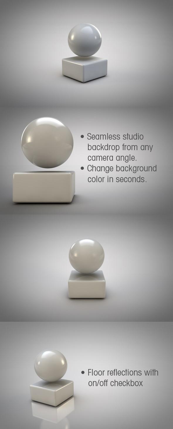 3DOcean Infinite Backdrop Studio & HDRI image 3978941