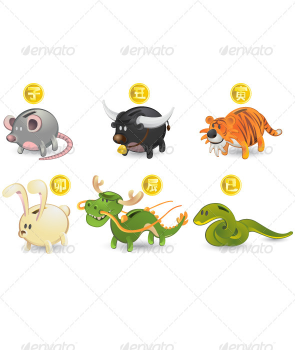 Chinese Zodiac Rat Ox Tiger Rabbit Dragon Snake
