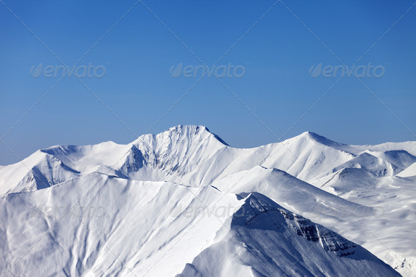 Mountains in winter - Stock Photo - Images