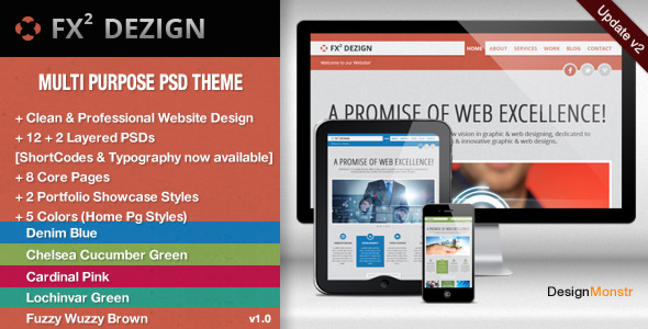FX2 Dezign - Multi Purpose PSD Template