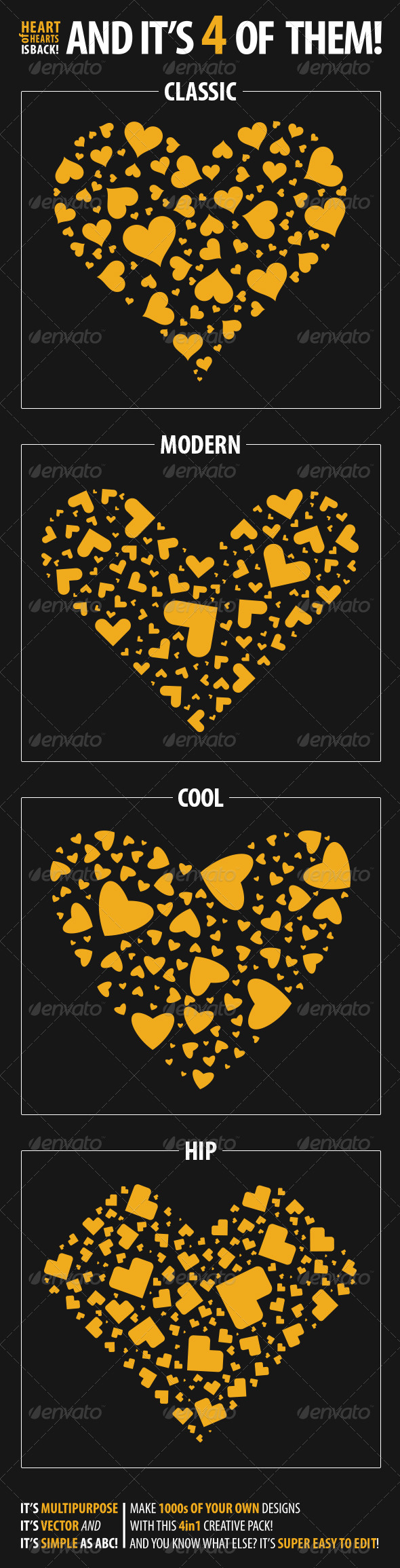 GraphicRiver Heart of Hearts 4 in 1 3979613