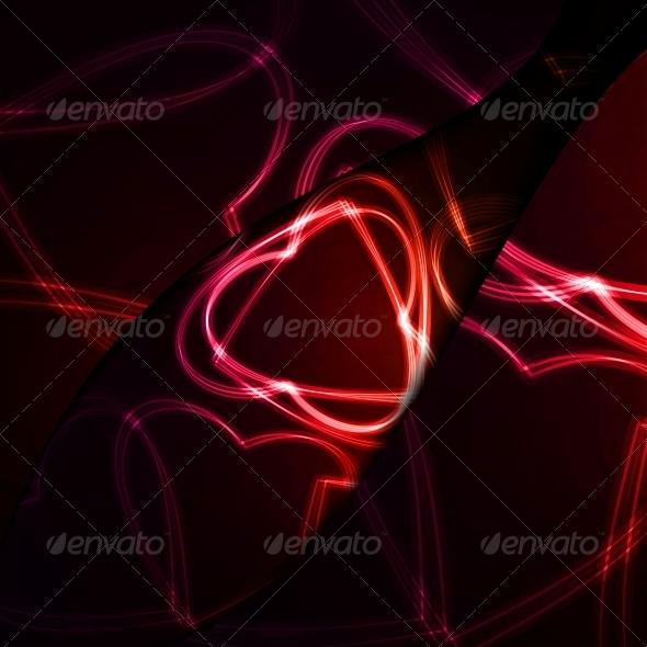 GraphicRiver Neon hearts futuristic illustration 3979679