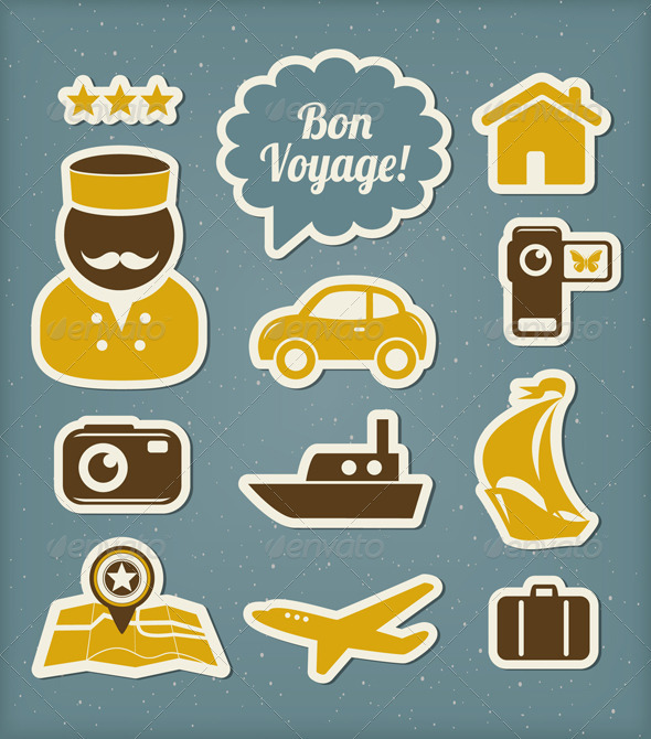 GraphicRiver Travel And Vacation Icons Set 3979851
