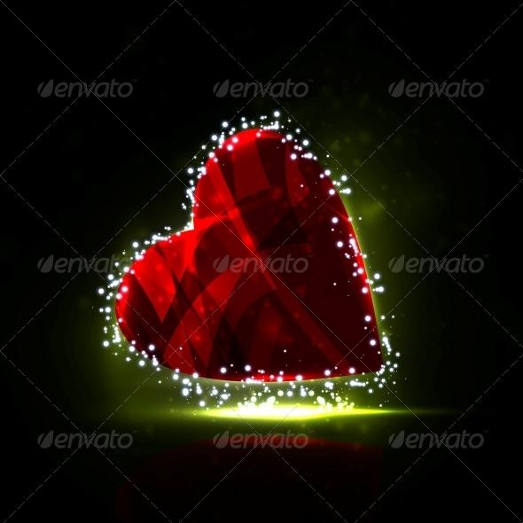 GraphicRiver Futuristic heart 3980085