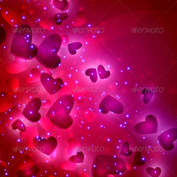 GraphicRiver Valentines Hearts background 3980093