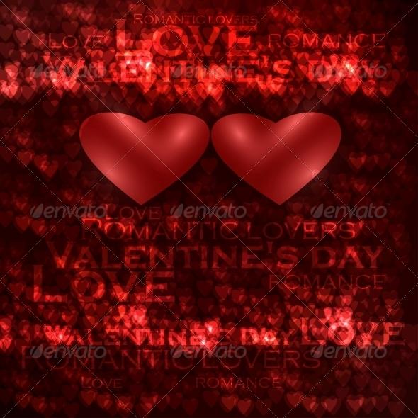 GraphicRiver Vector valentines hearts illustration 3980103