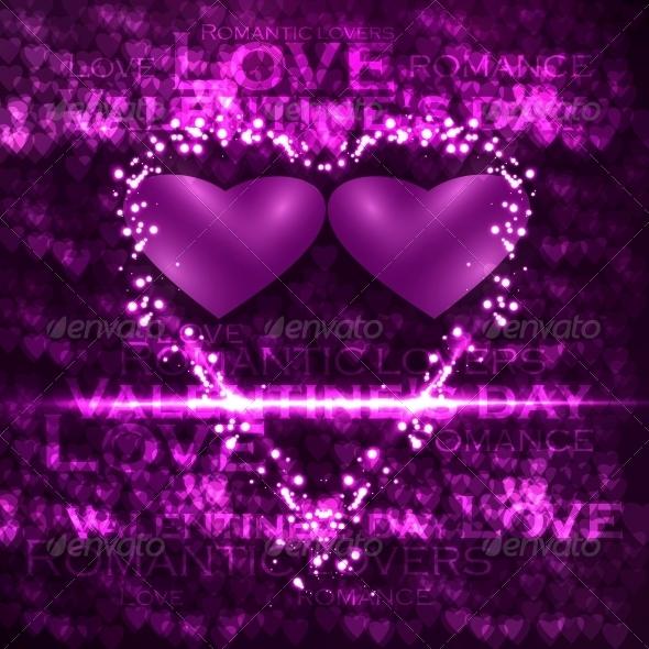 GraphicRiver Vector valentines hearts illustration 3980105