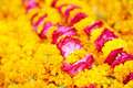 Indian traditional orange flowers garland