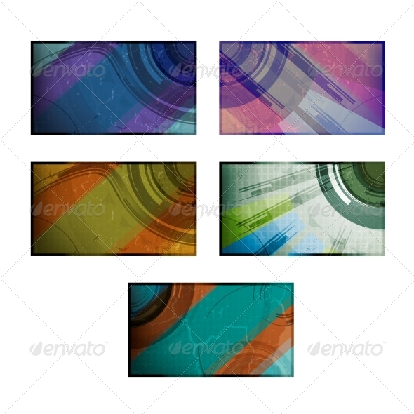 GraphicRiver Set for Abstract Vector Background 3980116