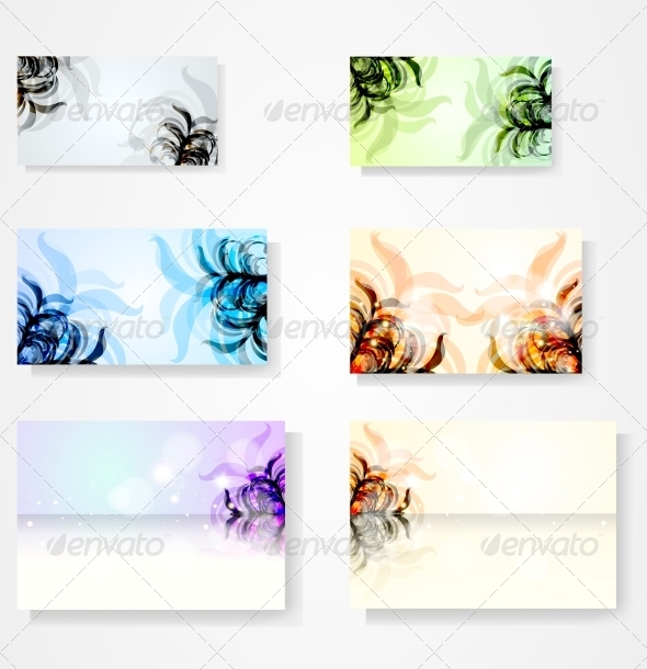 GraphicRiver Set for Floral Vector Background 3980125