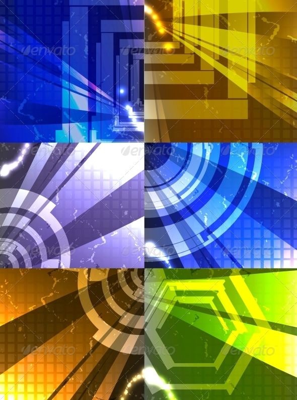 GraphicRiver Set for Abstract Vector Background 3980126