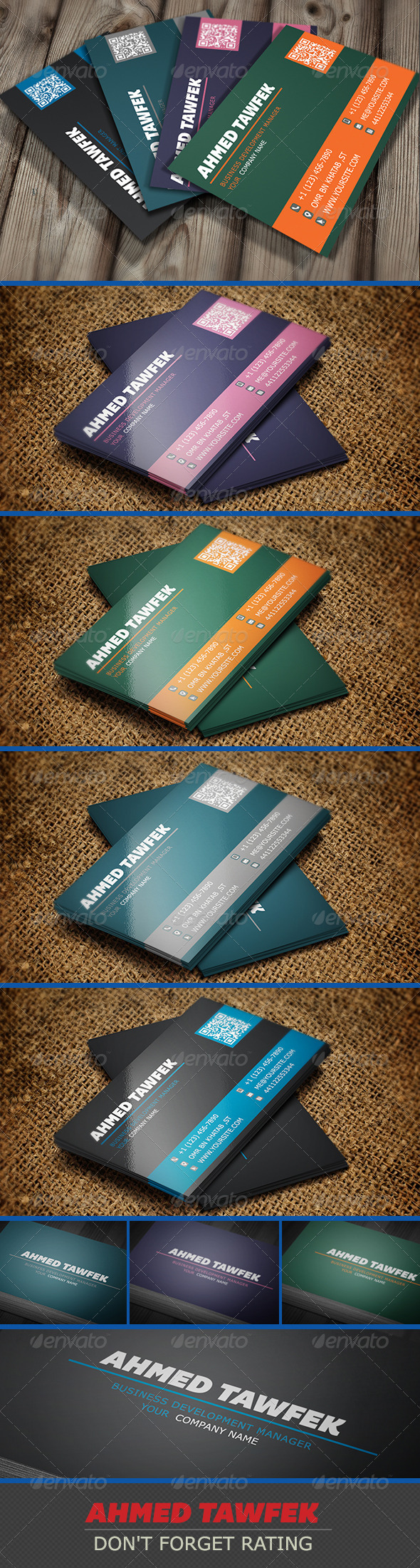 GraphicRiver Simple company Business Cards 3980403
