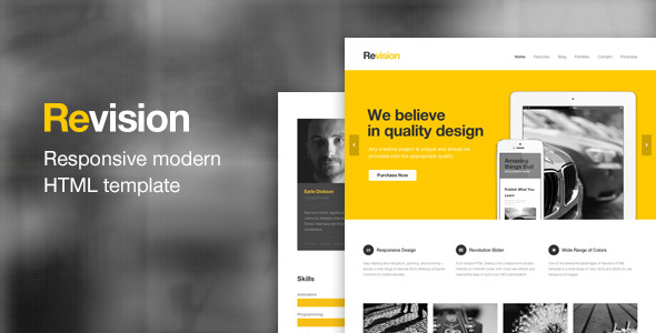 Revision - Responsive HTML5 Template