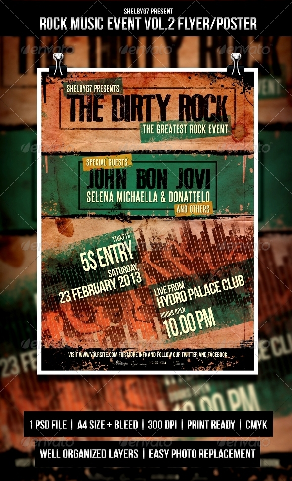GraphicRiver Rock Music Event Flyer Poster Vol.2 3981138