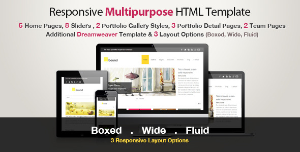 Responsive HTML Template - Bound