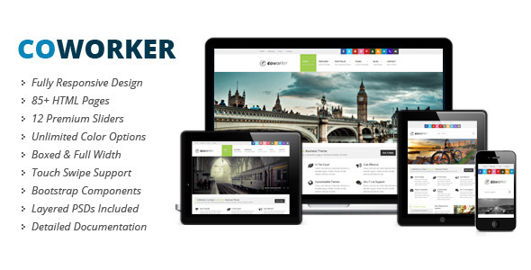 ThemeForest CoWorker Responsive Multipurpose Template 3981356