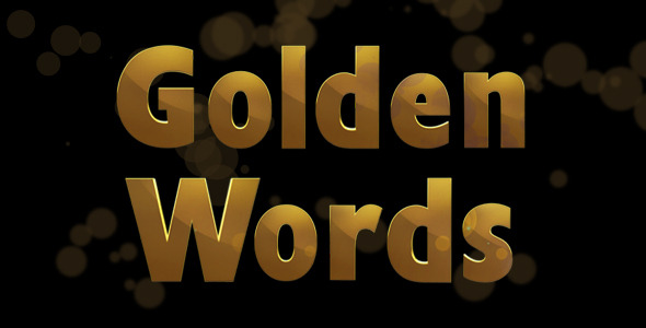 Golden Words Pack