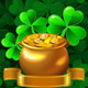 Vector Patrick Card with Clover and Gold Pot  - GraphicRiver Item for Sale