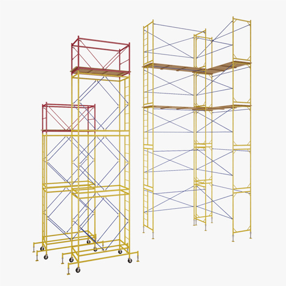 Scaffolding and Towers - 3DOcean Item for Sale