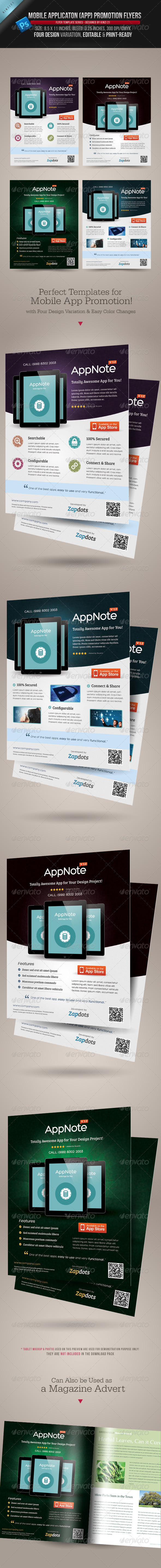 GraphicRiver Mobile App Promotion Flyers 3983284