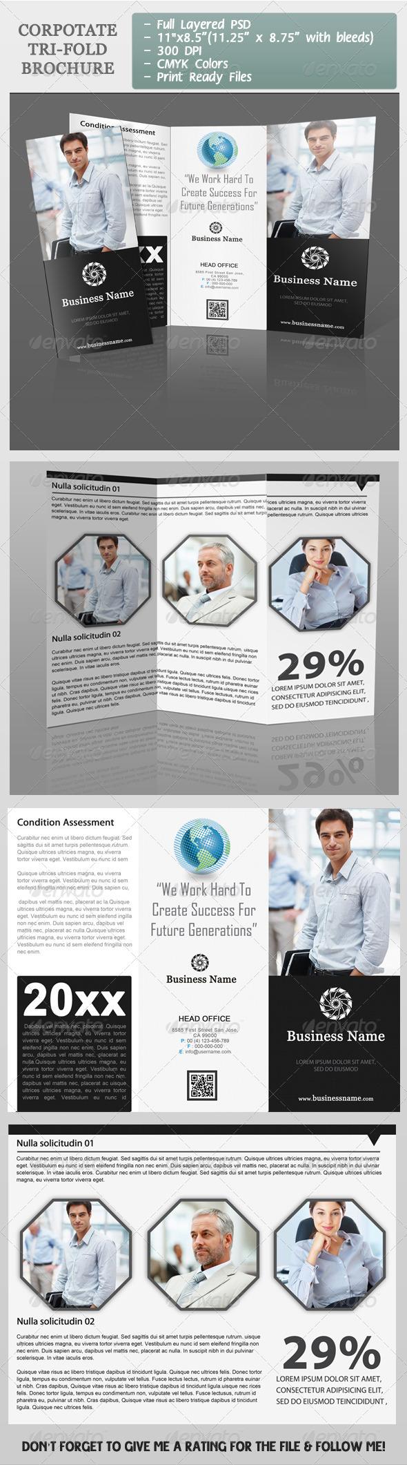 GraphicRiver Corporate Tri-Fold Brochure 3860926