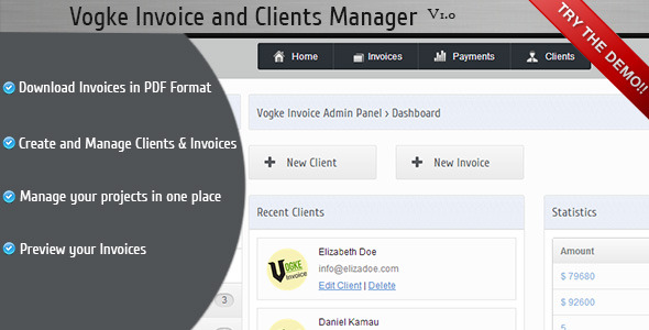 CodeCanyon Vogke Invoice and Clients Manager 3959611