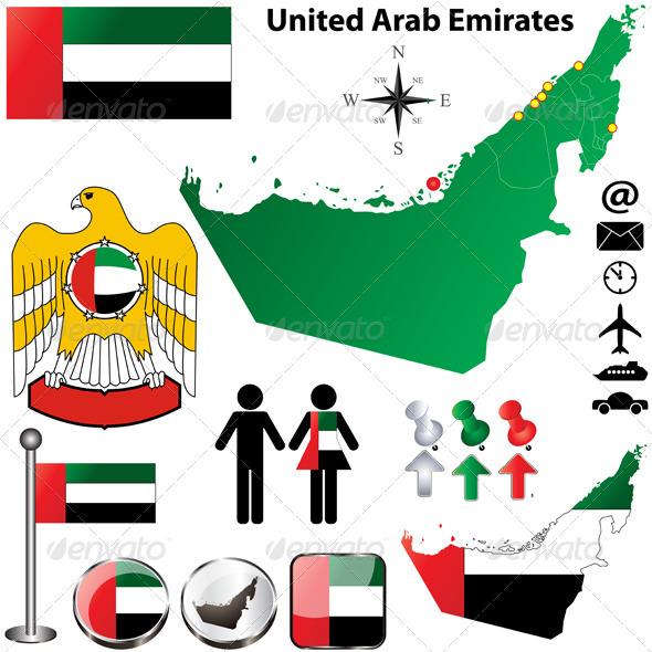 GraphicRiver United Arab Emirates map 3983829