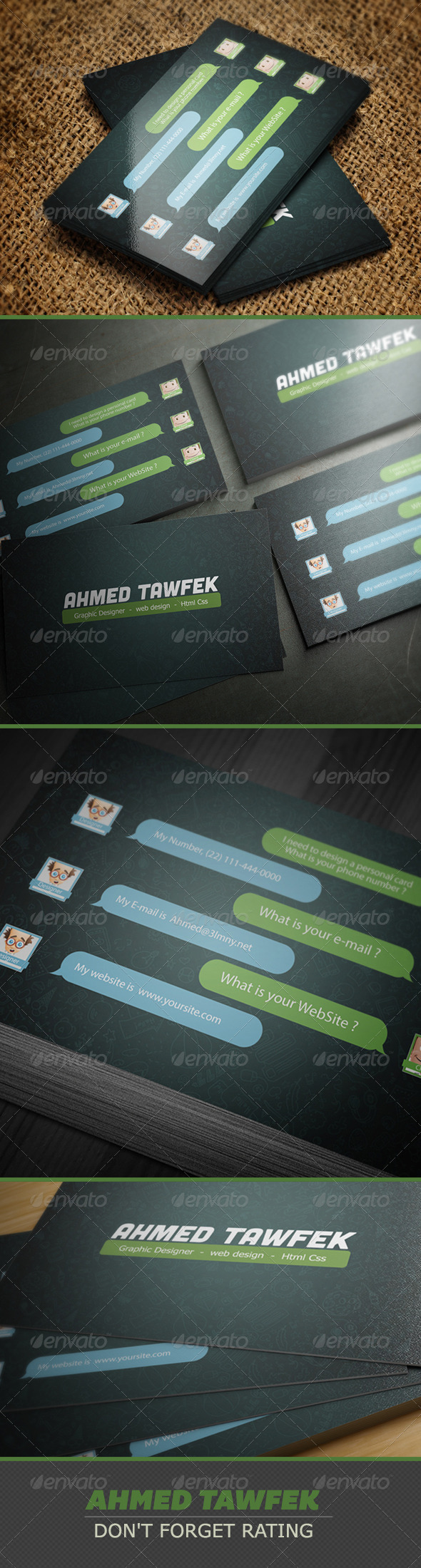 GraphicRiver Simple App Business Card 3886503