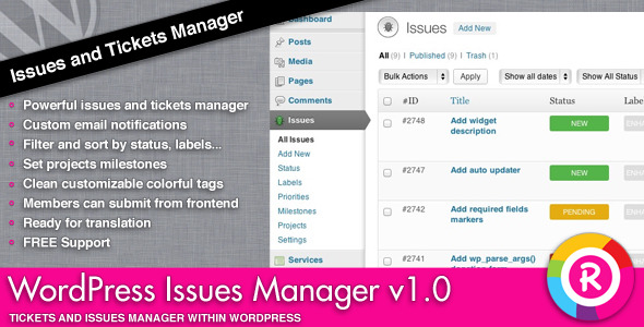 CodeCanyon WordPress Issues Manager 3983988