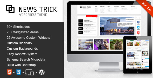 ThemeForest NewsTrick Responsive WordPress Magazine Blog 3984185