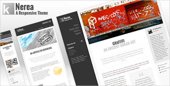 ThemeForest Nerea WordPress Responsive Theme 3722201