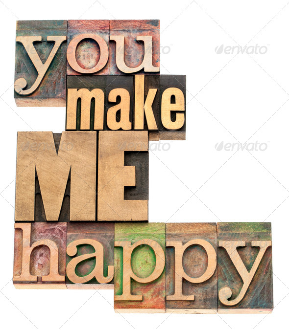 you make me happy - Stock Photo - Images
