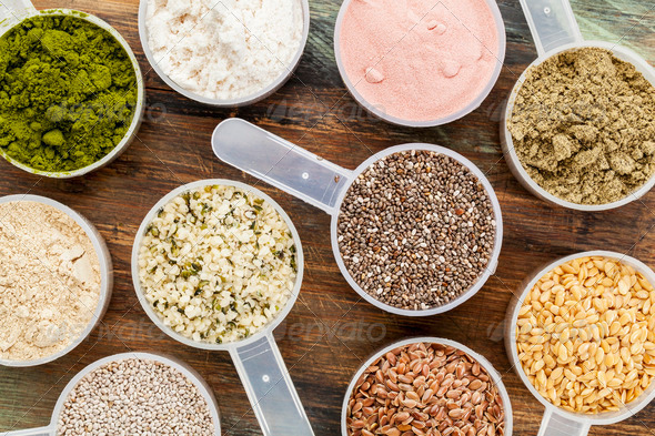 scoops of superfood - Stock Photo - Images