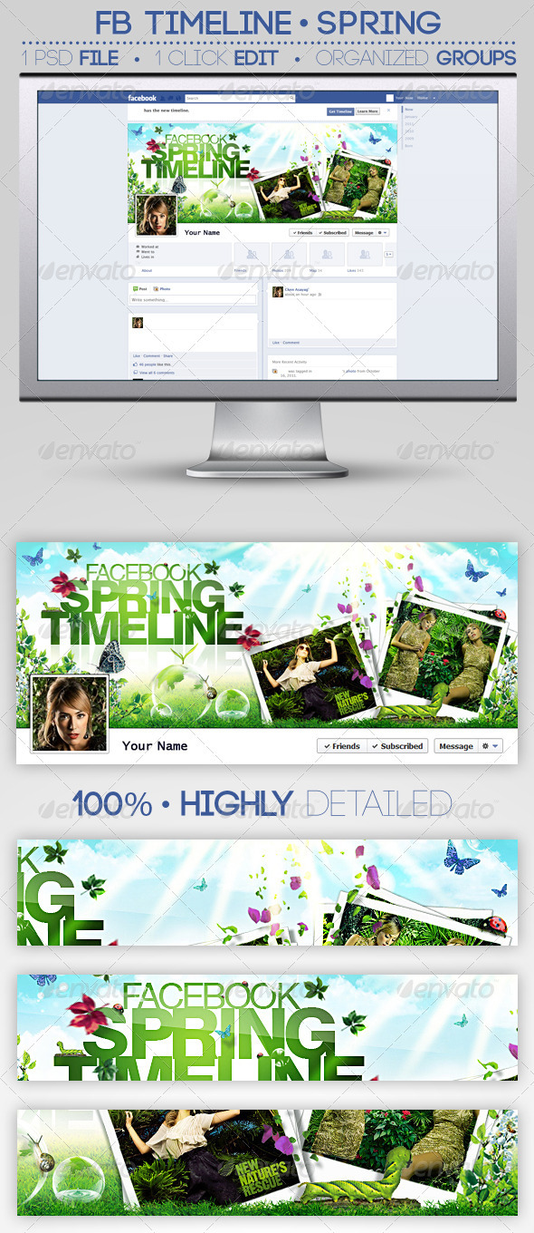 FB Timeline Cover | Spring - Facebook Timeline Covers Social Media
