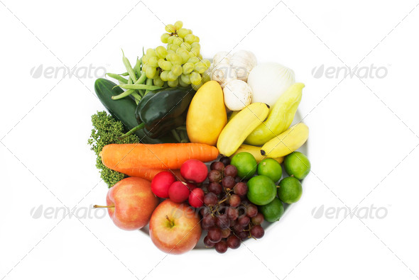 PhotoDune Eat Your Antioxidants A plate with various vegetables and fruits 3984342