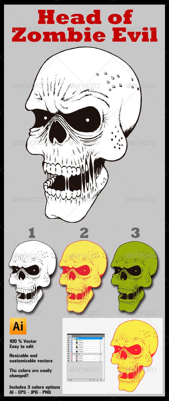 GraphicRiver Head of Zombie Evil 3919255