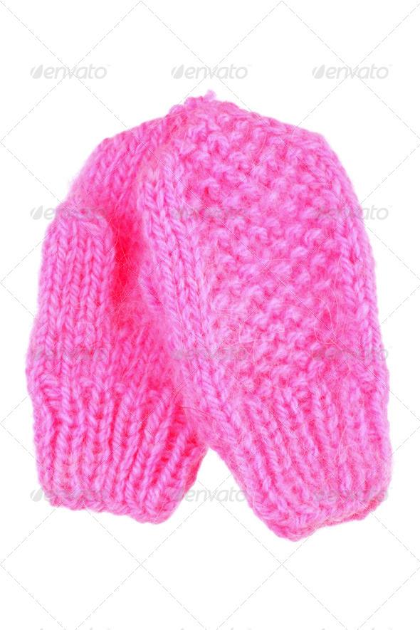 PhotoDune Pink mittens 3984344