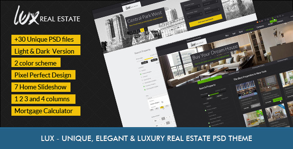 Luxury Real Estate | PSD Theme - Business Corporate