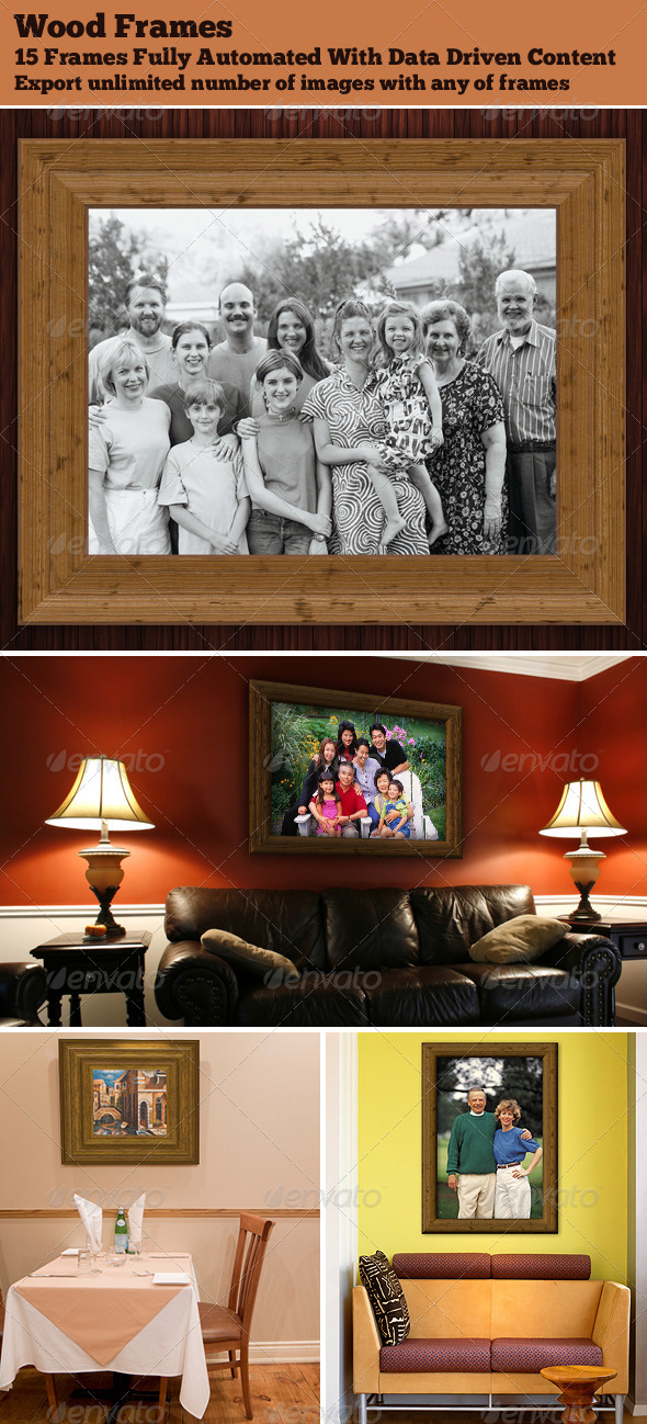 GraphicRiver Realistic 3D Wood Frames 3984378