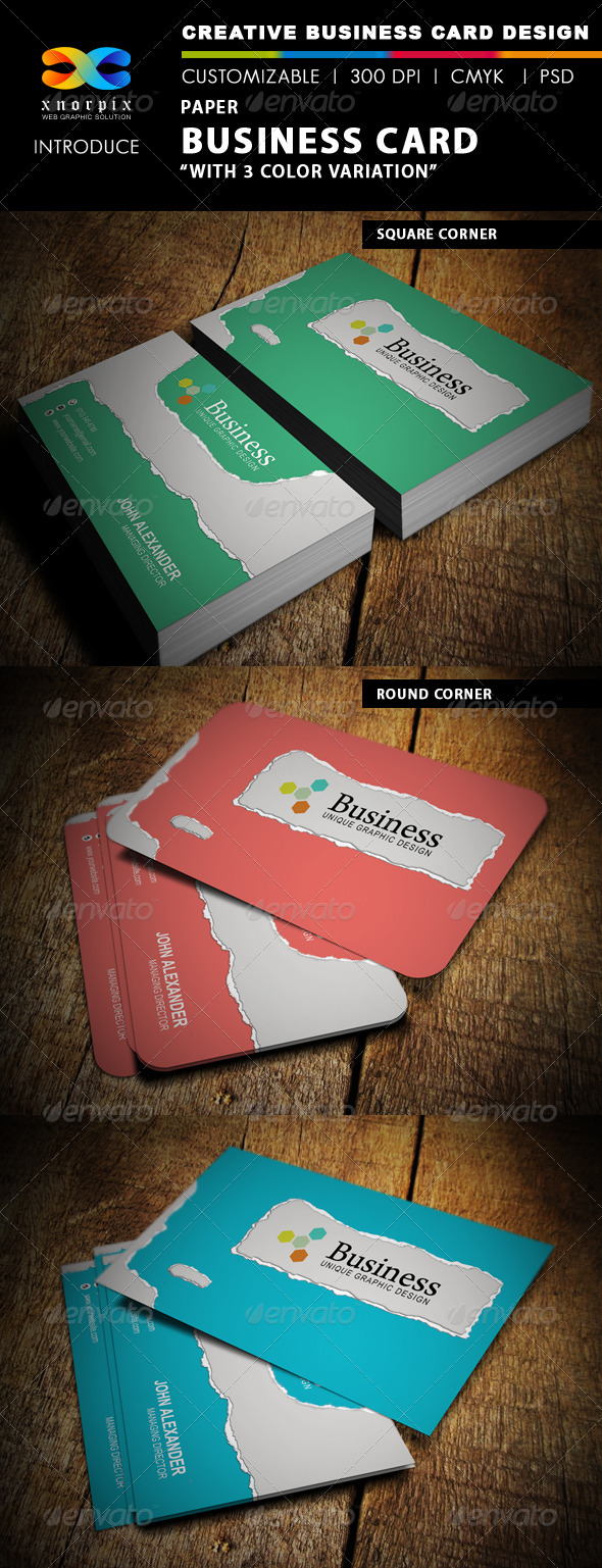 Paper Business Card - Creative Business Cards