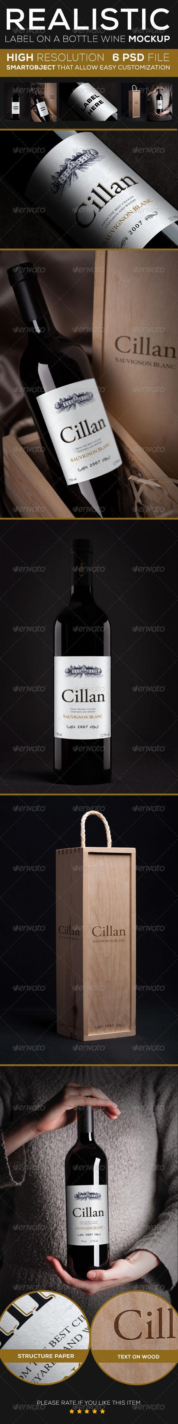 GraphicRiver Wine Bottle Mock up 3985289