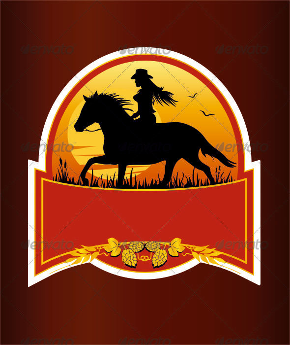 Beer Label Design - Decorative Symbols Decorative