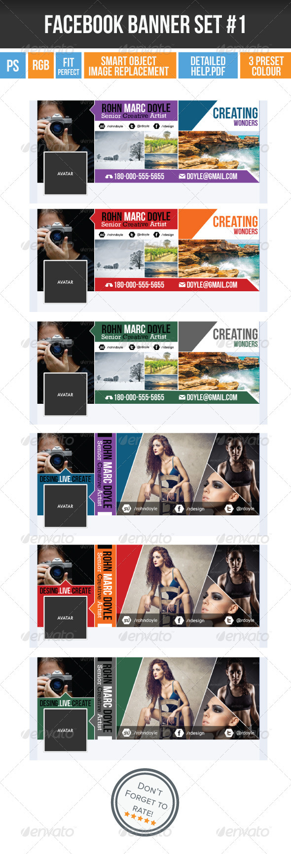 GraphicRiver FB Timeline Cover Vol 1 3985530